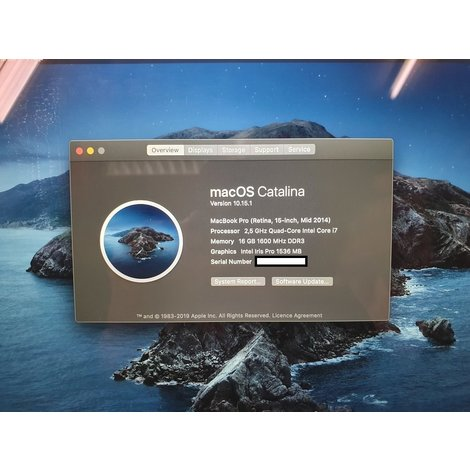 MacBook Pro 2014 15-Inch  i7 16GB RAM 512GB SSD   In nette staat