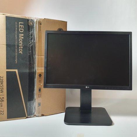 LG 22BK55WD-B Zwart LED Monitor | ZGAN in Doos