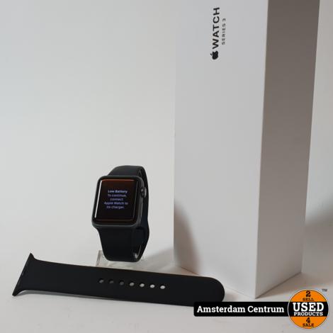 Apple Watch Series 3 38mm Space Gray | incl. Lader, Doos en Garantie