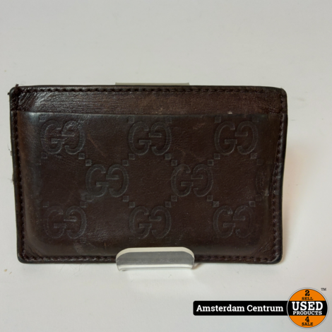 Gucci Signature Leather Card Case Brown 163233   Excl. Factuur & Dustbag