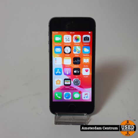 iPhone SE 64GB Space Gray | Incl. lader