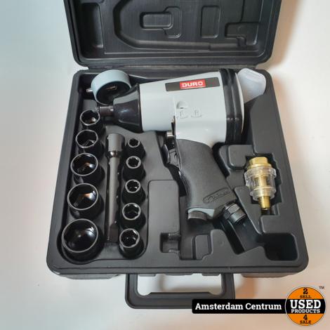 Duro RP7404/8014 Pneumatische slagmoersleutel 16-Delig | ZGAN in koffer