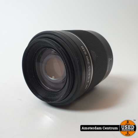 Sony DT 55-200 mm F4-5.6 SAM objectief   In nette staat
