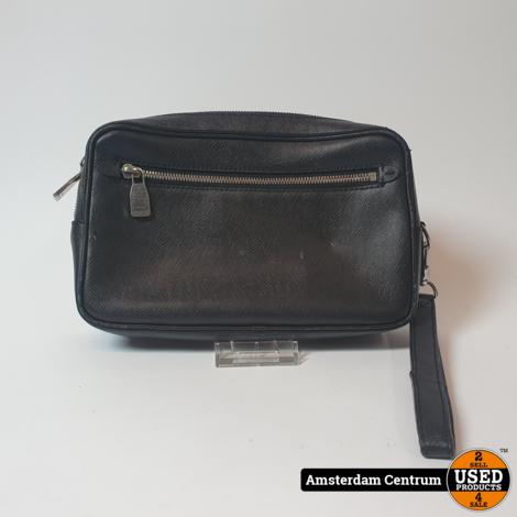 Louis Vuitton M33424 Kasai Clutch Black Taiga Leather 2018 | excl. Factuur & Doos