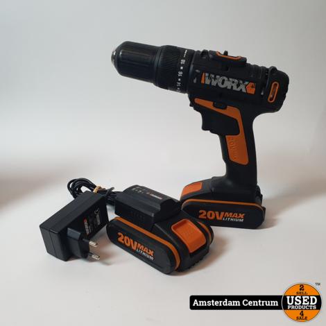 Worx WX371.2 20V Boormachine (2 Accu's)   Incl. garantie