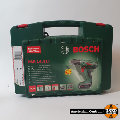 Bosch PSR 14.4 LI Boormachine | Incl. koffer en lader
