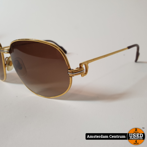 Cartier Bril Goud 130 | Nette Staat in Hoes