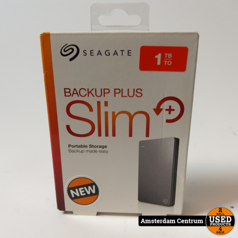 Seagate Backup Plus Slim 1TB Zilver | Nieuw in doos