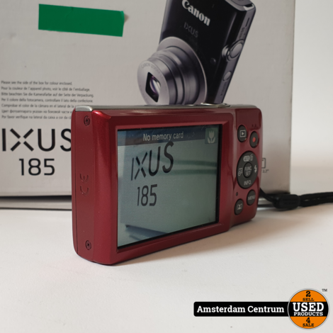 Canon IXUS 185 Camera Rood | Nette staat