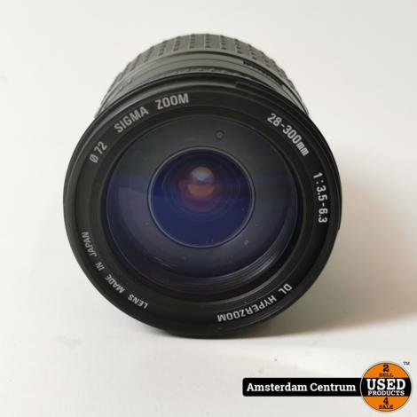 Sigma 28-300mm f/3.5-6.3 DL Hyperzoom Objectief voor Canon | Nette staat