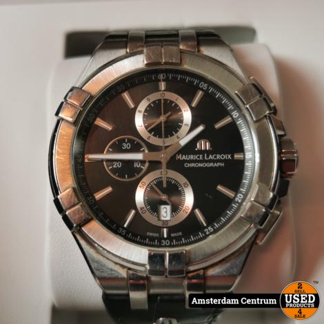 Maurice Lacroix Mens Aikon horloge AI1018-SS001-330-1 | Nette Staat in Doos