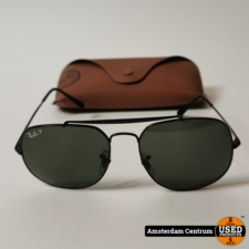 Ray-Ban The General RB3561 Heren Zonnebril Zwart | Nette staat in hoes