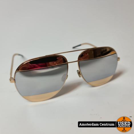DIOR SPLIT 1 000DC Dames zonnebril Goud | Excl. hoes