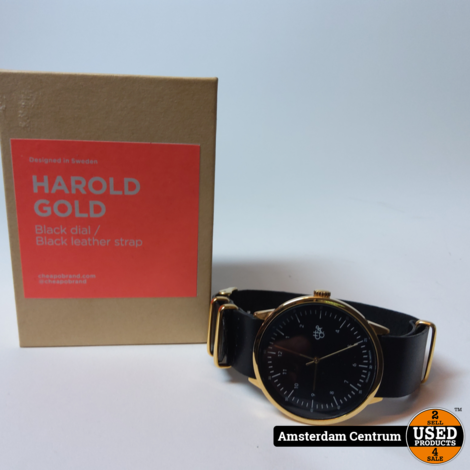 CHPO Harold Gold Black Heren Horloge | ZGAN