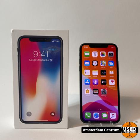 iPhone X 64GB Space Gray   Incl. lader en garantie
