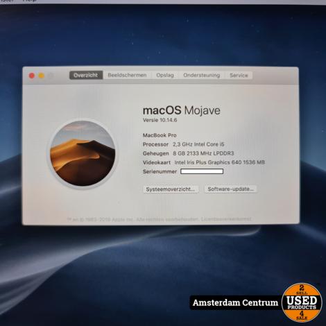 Macbook Pro 2017 13-inch i5 8GB RAM 128 SSD | In nette staat