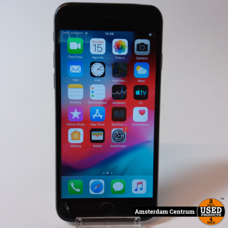 iPhone 6 16GB Space Gray | Incl. lader en garantie
