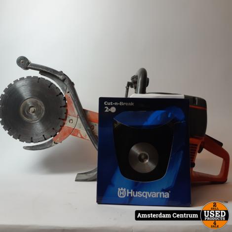 Husqvarna K760 Cut-n-Break Motordoorslijper incl. 1 set EL35 zaagbladen | Incl. garantie
