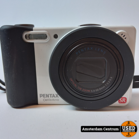 Pentax Optio RZ10 Wit Digitale Camera | Incl. lader