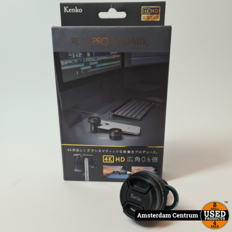 Kenko Real Pro Cinematic 4K Wide 0.6x Lensclip  | In nette staat