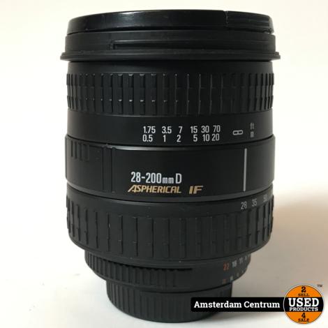 Sigma 28-200MM f/3.5-5.6 DL Hyperzoom Macro Nikon | Nette staat
