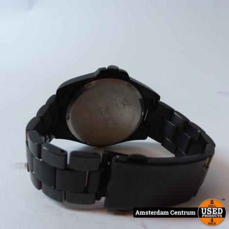 Prisma P.1148 Herenhorloge Zwart/Black   In nette staat