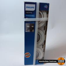 Philips Casement - Inbouwspot - 3 Lichtpunten - wit   Nieuw