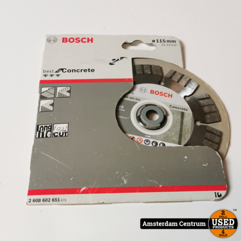 BOSCH BEST FOR CONCRETE 115 X 22,23 X 2,2 X 12 MM | Nieuw