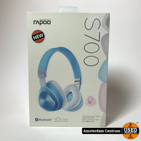 Rapoo S700 Bluetooth NFC Headset Roze | Nieuw