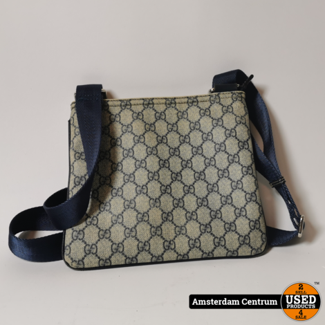 Gucci GG Supreme Small Messenger Blue/Blauw | Incl. garantie