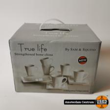 True Life 13-delig Koffieservies Wit/White | Nieuw in doos
