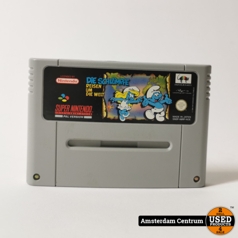Super Nintendo Game: Die Schlumpfe Reisen Um Die Welt