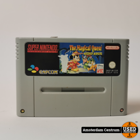 Super Nintendo Game: The Magical Quest Mickey Mouse