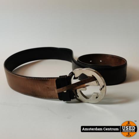 Gucci GG Detail Signature Belt Brown 90CM | Incl. garantie