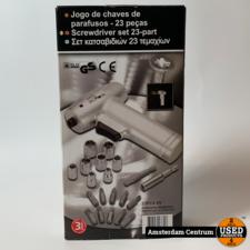 Accutol 6V Schroef/Doppen Set 23-Delig   Nieuw