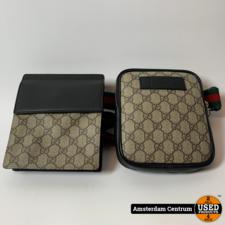 Gucci Gucci Waist Bag GG Supreme Web Strap Beige   ZGAN