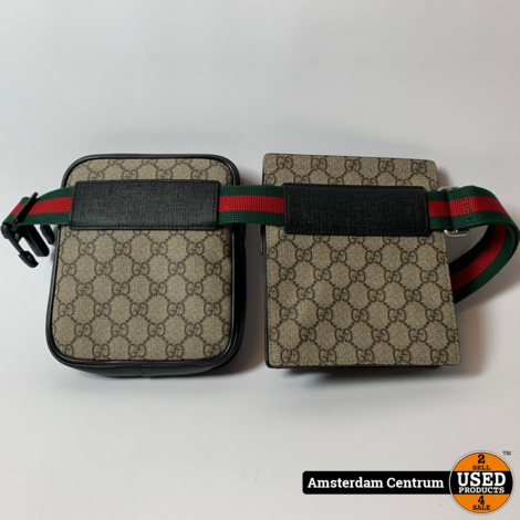 Gucci Waist Bag GG Supreme Web Strap Beige   ZGAN