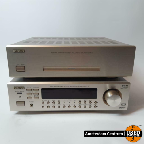 Denon AVR-F100, POA-F100 compacte receiver en versterker   Nette Staat