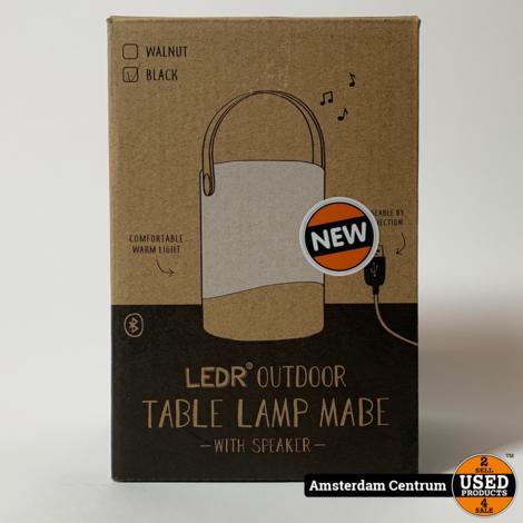 Outdoor Table Lamp Mabe Black met speaker   Nieuw in Doos