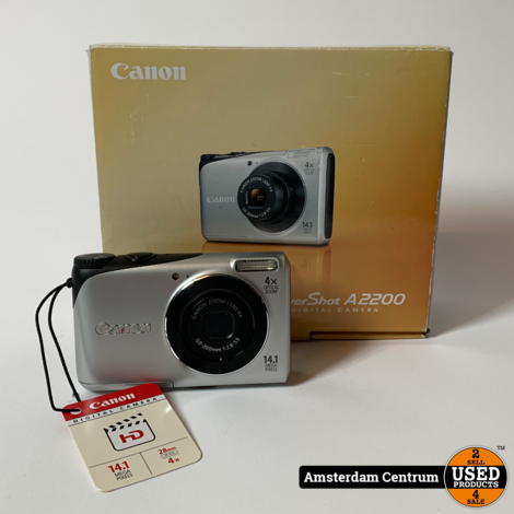 Canon PowerShot A2200 14.1MP Digitale Camera | ZGAN in Doos