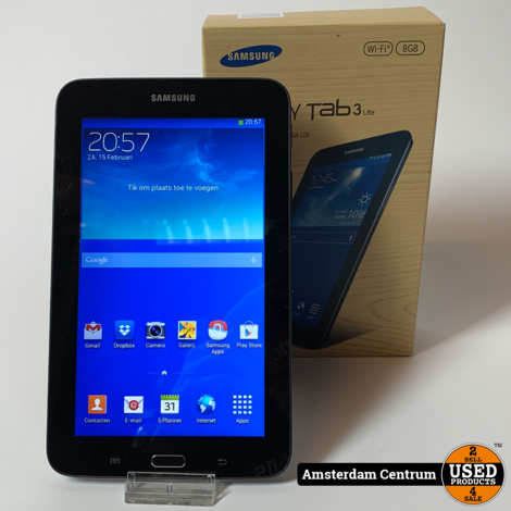 Samsung Galaxy Tab 3 Lite 7.0 8GB WiFi Zwart | incl. garantie