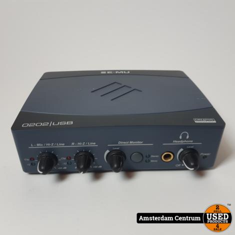 E-MU 0202 USB Audio Interface   Incl. garantie