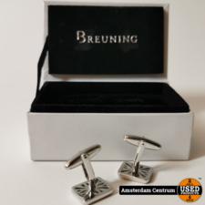 Breuning 2 Zilveren manchetknopen | in Doos