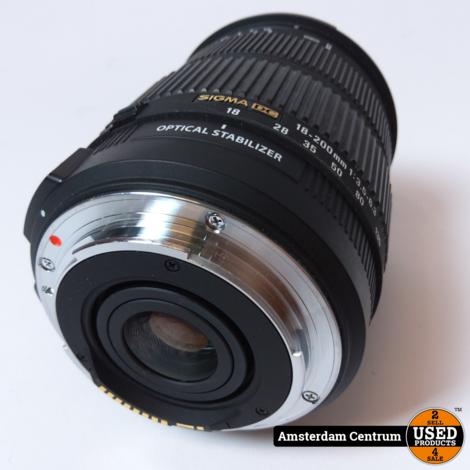 Sigma 18-200mm f/3.5-6.3 DC voor Canon   In nette staat