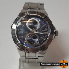 Guess W16004GT Zilver/Blauw Herenhorloge | Incl. garantie