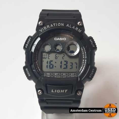 Casio Sports W-735H Heren Horloge Zwart/Black | ZGAN