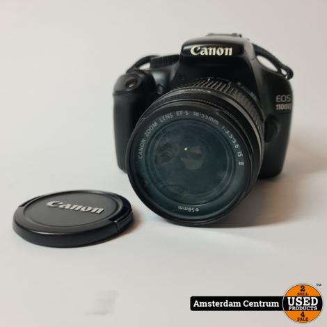 Canon EOS 1100D incl EF-S 18-55mm f/3.5-5.6 IS II | In nette staat