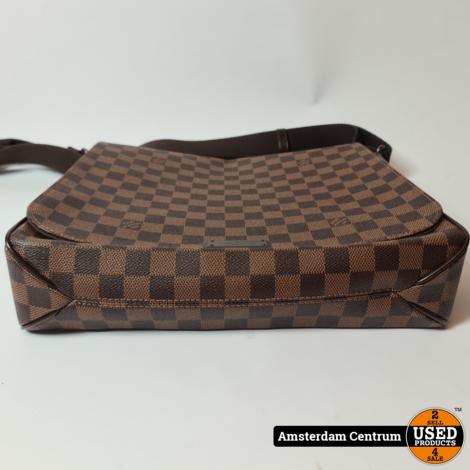 Louis Vuitton Damier Ebene Canvas District MM Bag 2014   Incl. doos