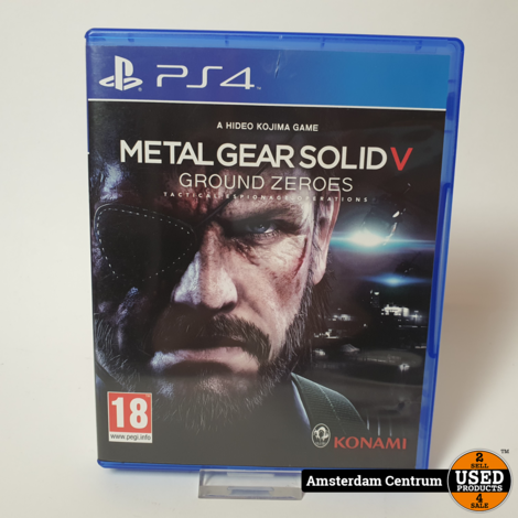 Playstation 4 Game : Metal Gear Solid V Ground Zeroes