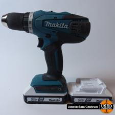 Makita DF457D Boormachine 2x accu   Incl. lader